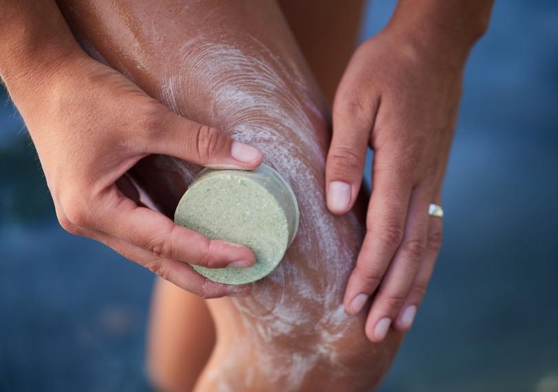 Festes Duschgel ohne Mikroplastik